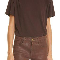 Padded Shoulder Cotton T-Shirt | Nordstrom