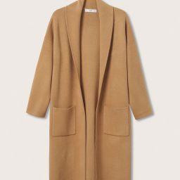 Oversized Coat with Pockets, Cardigan Coat, Camel Cardigan Coat, Mango Coatigan, Mango Coat, Fall | MANGO (US)