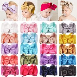 DeD 20 Pieces Soft Elastic Nylon Headbands Hair Bows Headbands Hairbands for Baby Girl Toddlers I... | Amazon (US)