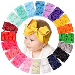 20pcs 6 Inches Baby Girls Big Bows Headbands Elastic Nylon Hairbands Turban Hair Accessories for ... | Amazon (US)