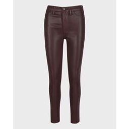 High Waist Ankle Skinny With Faux Pockets In Coated Chocolate | 7 For All Mankind