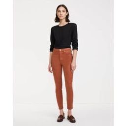 High Waist Ankle Skinny With Faux Pockets In Coated Spice | 7 For All Mankind