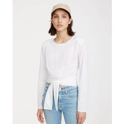 Shoulder Pad Twist Tee In Optic White | 7 For All Mankind