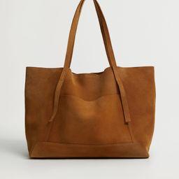Leather shopper bag | MANGO (US)