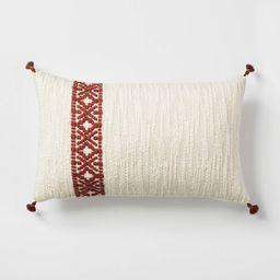 Woven Striped Lumbar Throw Pillow Cream/Rust - Threshold™ designed with Studio McGee   Target