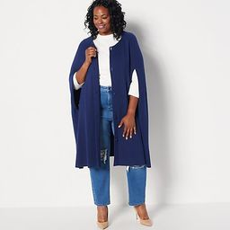 Girl With Curves Button Front Cardigan Cape | QVC