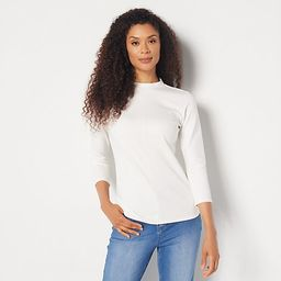 Girl With Curves Mock Neck Knit Top | QVC