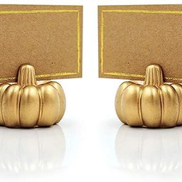 Kate Aspen Pumpkin Place Card Holder, Set of 6, Gold | Amazon (US)