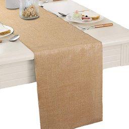 "Burlap Table Runner 12"" X 108''- Rustic Wedding Decoration Table Runner Decoration - Dining Table... | Amazon (US)"