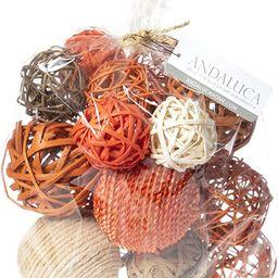 ANDALUCA Decorative Vase Filler Bag with Orbs, Balls (Burnt Orange) | Amazon (US)