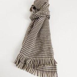 ASOS DESIGN woven scarf in houndstooth check   ASOS (Global)