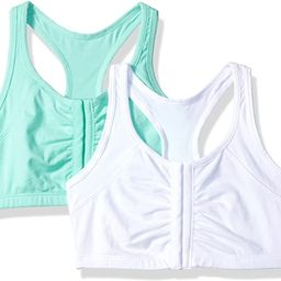 Fruit of the Loom Women's Front Close Racerback Sports Bra, 2-Pack | Amazon (US)