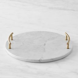 Round Marble and Brass Tray   Williams-Sonoma