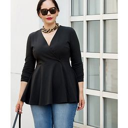 Girl With Curves Ponte Peplum Blazer   QVC