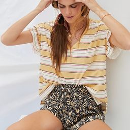 Pilcro Ruffled Relaxed Tee | Anthropologie (US)