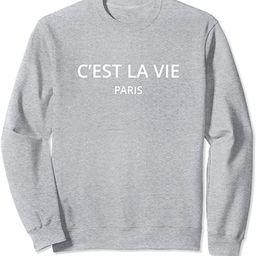 Paris Tees C'est la vie Paris Sweatshirt ,Blue ,Small | Amazon (US)