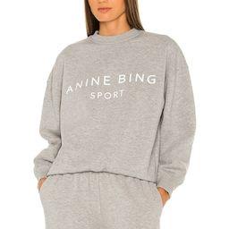 ANINE BING Sport Evan Sweatshirt in Heather Grey from Revolve.com | Revolve Clothing (Global)