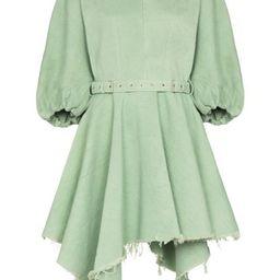 asymmetric balloon-sleeves dress   Farfetch (US)