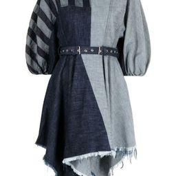denim patchwork dress   Farfetch (US)