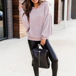 Stylish Splendor Dusty Mauve Hoodie | The Pink Lily Boutique