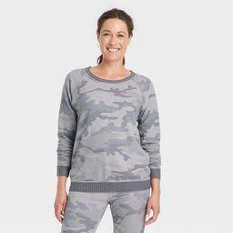 Women's Sweatshirt - Knox Rose™ Green Camo Print XS | Target