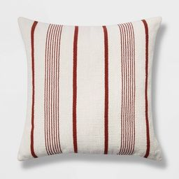 Oversized Woven Textured Striped Square Throw Pillow - Threshold™ | Target