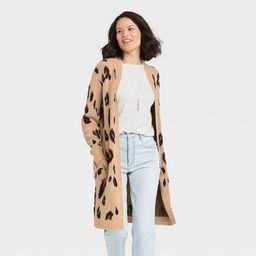 Women's Long Sleeve Cardigan - Knox Rose™ Leopard Print | Target