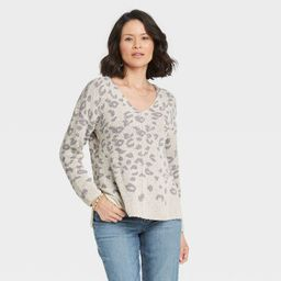 Women's Long Sleeve V-Neck Pullover Sweater - Knox Rose™ | Target