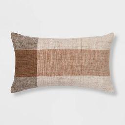 Oversized Textured Woven Lumbar Throw Pillow - Threshold™ | Target