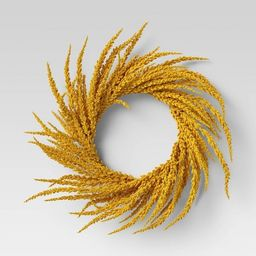 """20"""" Artificial Goldenrod Wreath Yellow - Threshold™ 