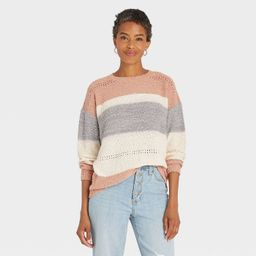 Women's Striped Long Sleeve Pullover Sweater - Knox Rose™ | Target