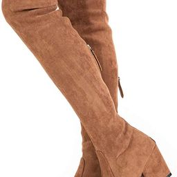 Women Boots Winter Over Knee Long Boots Fashion Boots Heels Autumn Quality Suede Comfort Square Heel | Amazon (US)