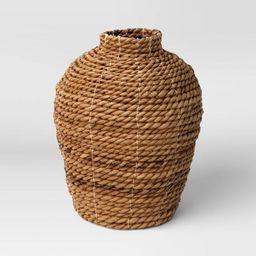 "10"" x 8"" Abaca Woven Harvest Vase Brown - Threshold™   Target"