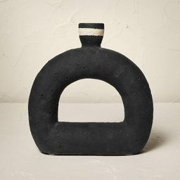 """9.5"""" x 9.5"""" Terracotta Taper Candle Holder Black - Opalhouse™ designed with Jungalow™ 