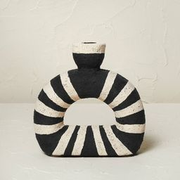 """6.5"""" x 6.5"""" Terracotta Striped Taper Candle Holder - Opalhouse™ designed with Jungalow™ 