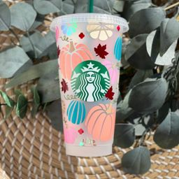 Fall Starbucks Cold Cup | Gift Idea | Birthday | Friend | Pumpkin Starbucks Cup Aesthetic | Pumpk... | Etsy (US)