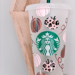 Fall Starbucks Cup | Leopard Pumpkin Starbucks Cup | Pumpkin Starbucks Cup | It's Fall Ya'll Cup ... | Etsy (US)