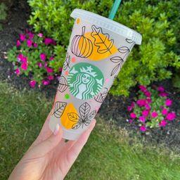 Autumn Leaves Starbucks Cup | Etsy (US)