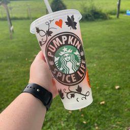 Fall Starbucks Cup, Pumpkin Spice Life, Pumpkin Spice, Pumpkin, Fall, Starbucks Cold Cup | Etsy (US)