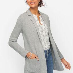 Notch Collar Sweater Blazer | Talbots