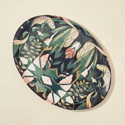 """14"""" x 10"""" Stoneware Printed Oval Serving Platter - Opalhouse™ designed with Jungalo...   Target"""