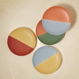 """6"""" 4pk Stoneware Two-Tone Appetizer Plates - Opalhouse™ designed with Jungalow™   Target"""