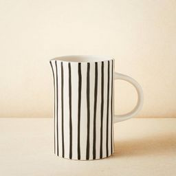 58oz Stoneware Striped Beverage Pitcher - Opalhouse™ designed with Jungalow™ | Target