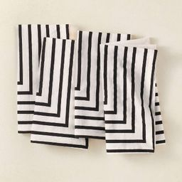 4pk Cotton Striped Napkins Black/White - Opalhouse™ designed with Jungalow™ | Target