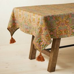 """84"""" x 60"""" Cotton Tablecloth with Removable Tassels - Opalhouse™ designed with Junga...   Target"""