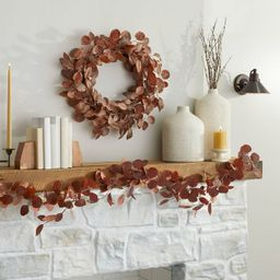 Faux Rusted Eucalyptus Plant Wreath - Hearth & Hand™ with Magnolia | Target