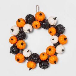 Pumpkins and Black Grass Halloween Wreath - Hyde & EEK! Boutique™ | Target