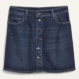 High-Waisted Button-Front Mini Jean Skirt for Women | Old Navy (US)