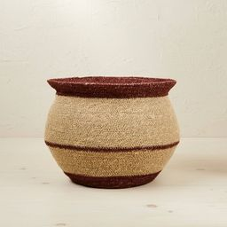 """10"""" x 14"""" Round Seagrass Decorative Basket Red - Opalhouse™ designed with Jungalow&... 