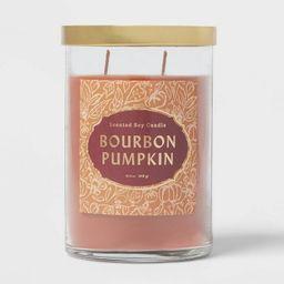 25.1oz Lidded Glass Jar 2-Wick Bourbon Pumpkin Candle - Opalhouse™ | Target